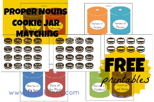 Common Noun Proper Noun Game Freebie by Shabby Chic Teaching Geek