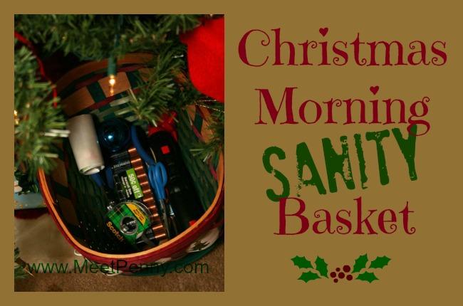 The Christmas Morning Sanity Basket