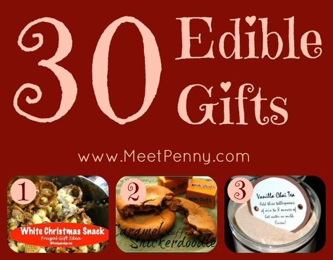 30+ Homemade Edible Gifts & a Free Printable