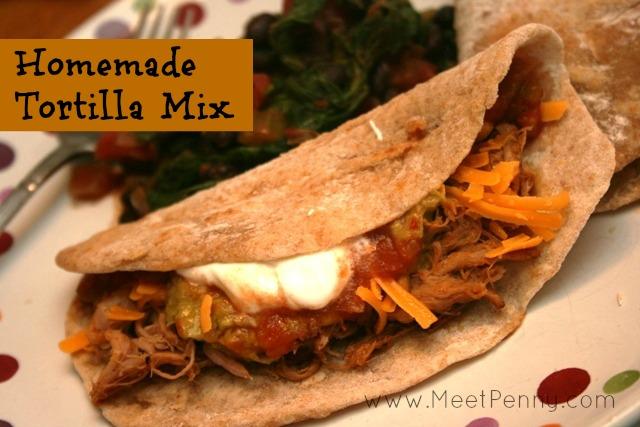 homemade tortilla mix recipe prepared