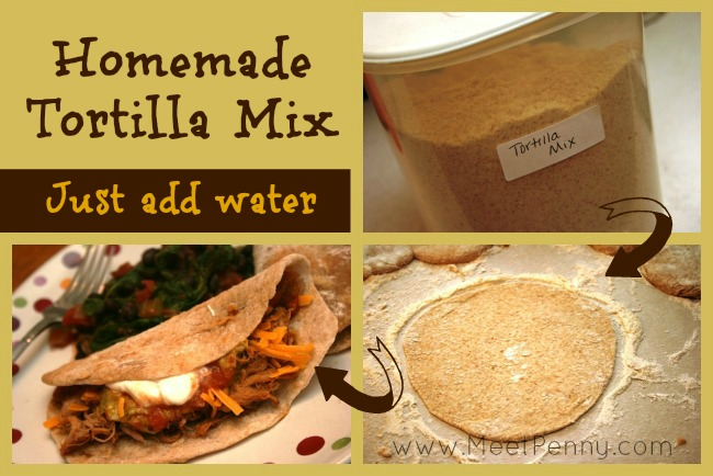 Homemade Mix for 50/50 Wheat Tortillas