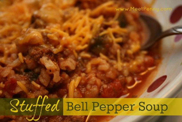 Recipe ~ Stuffed Pepper Soup (Freezer Bag: Crock Pot or Not)