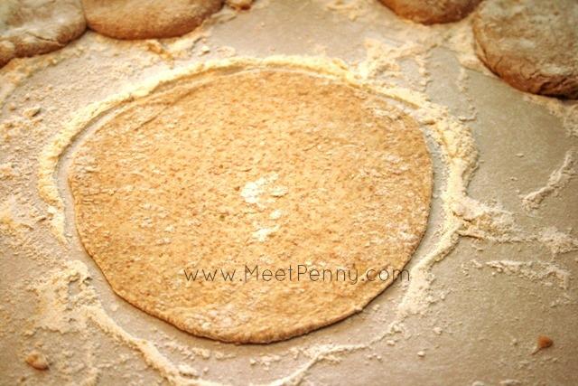 tortilla homemade mix flattened
