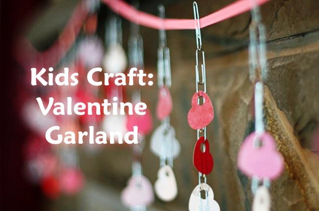 Valentine Garland Kid's Craft