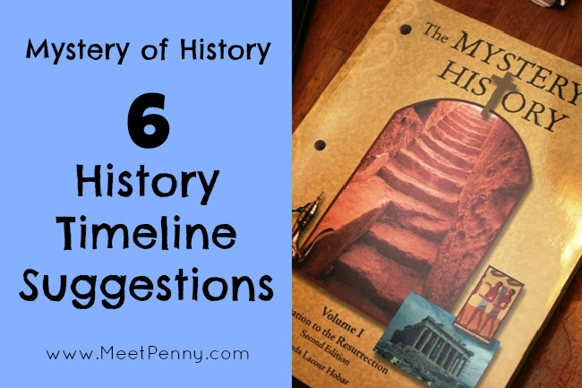 Mystery of History Timeline Options