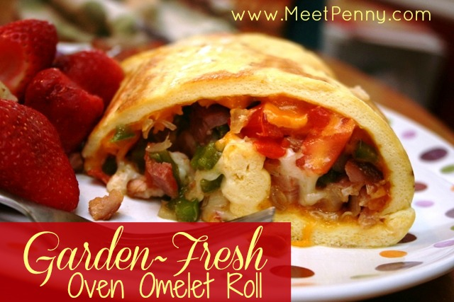 RECIPE: Garden~Fresh Oven Omelet Roll