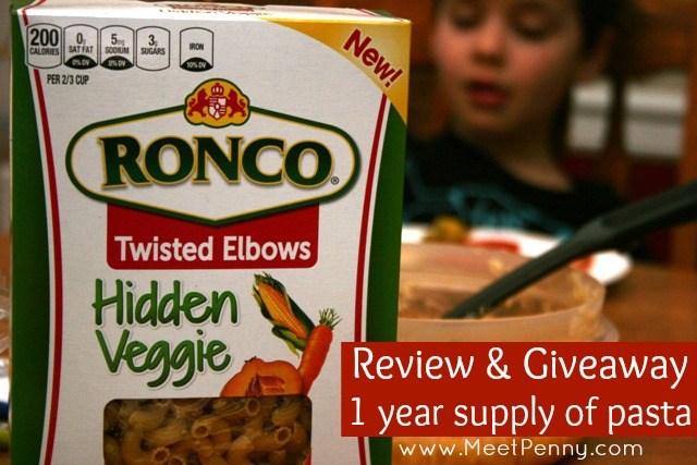 Win a one year supply of Ronco Hidden Veggie Pasta