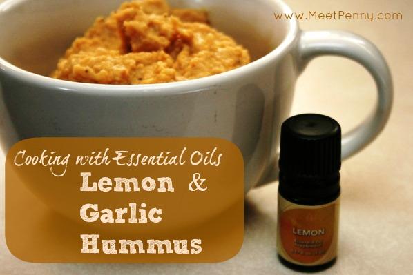 Hummus with Lemon Essential Oil (No Tahini)