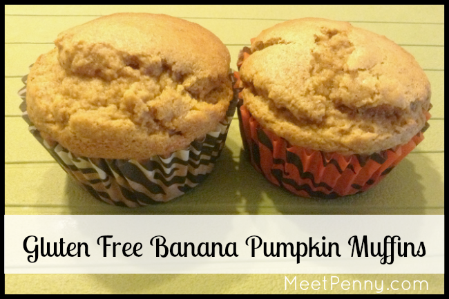 Gluten Free Banana Pumpkin Muffin Recipe