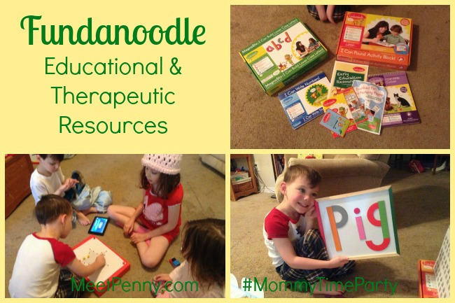 Fundanoodle resources for kinesthetic learners. Educational and therapeutic. #MommyTimeParty 5/14-5/24