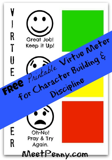 Using We Choose Virtues for Discipline (Free Printable Friday)