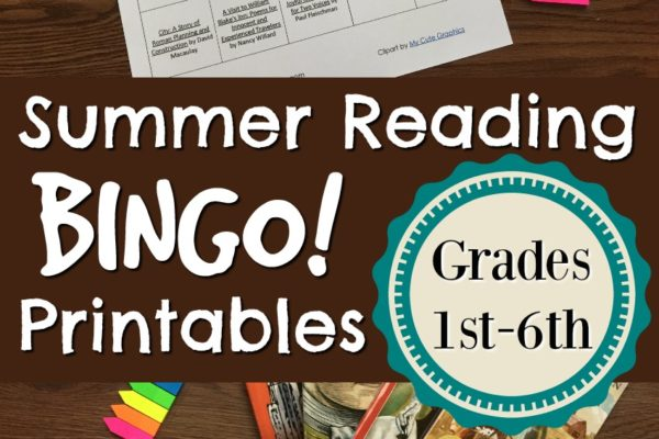 Summer Reading Bingo Printable (1st through 6th grades)