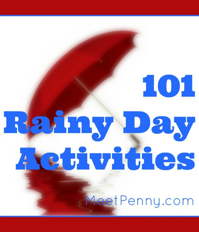 Super long list of ideas to keep the kids busy on rainy days. Most of these rainy day activities are linked to the source to help with tutorials, printables, and more. Even better, you don't need anything fancy!