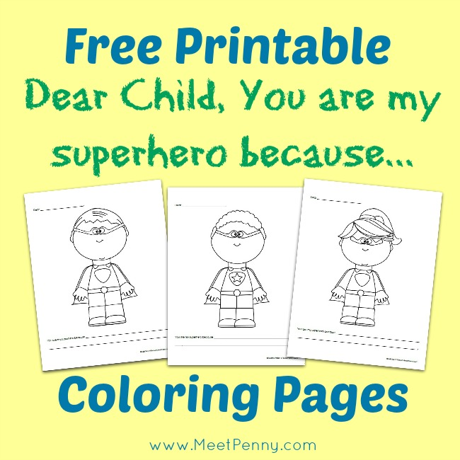 Free Printable Super Hero Letter for Your Child
