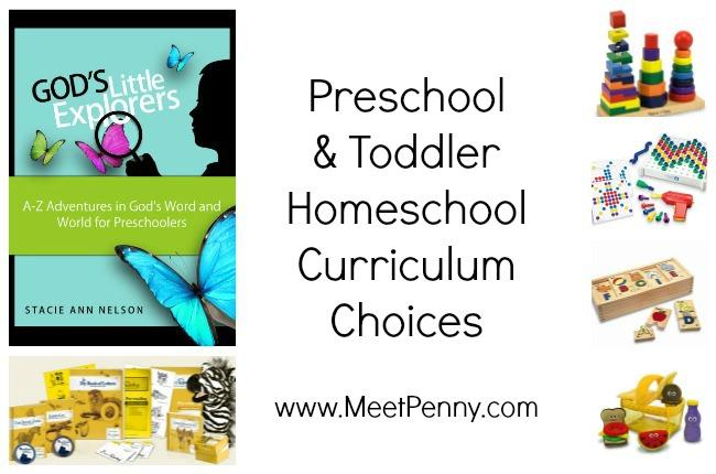 Preschool & Little Learner Homeschool Curriculum