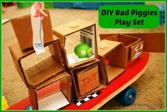 DIY Bad Piggies Game Play Set