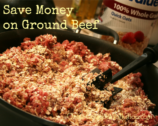 saving money on meat - a list of healthy fillers to stretch your ground beef further