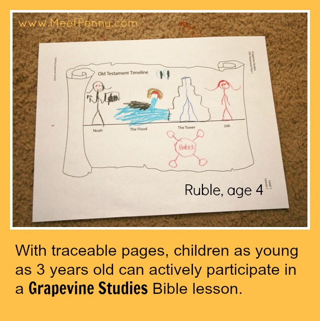 Grapevine Studies works for leading a Bible study even with multiple ages