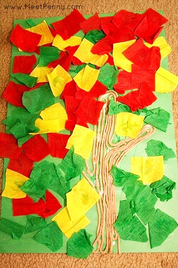 Red Leaf, Yellow Leaf - Fall Preschool Art Project Idea