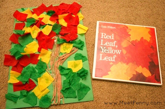 red leaf yellow leaf preschool art activity meet penny