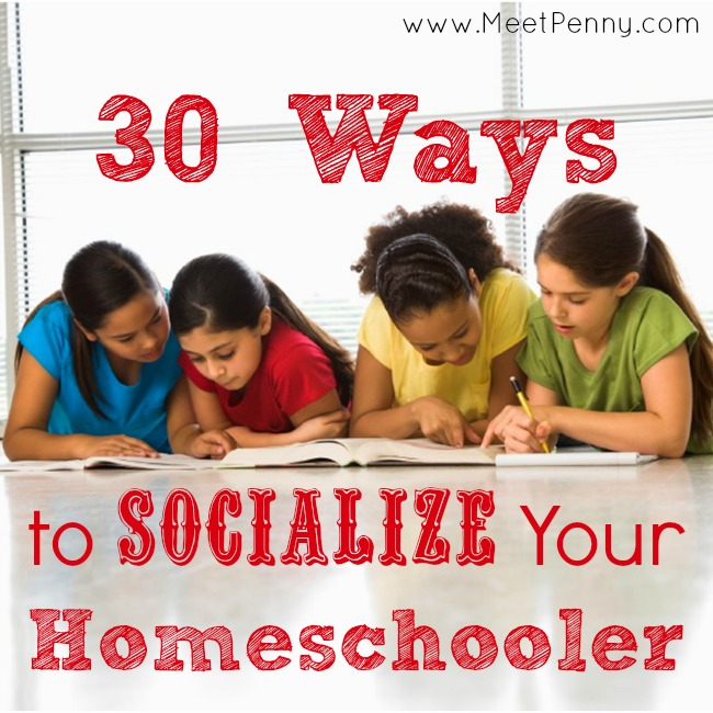 30+ ways to socialize a homeschooled child