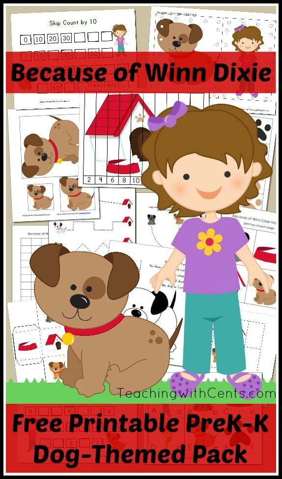 Because of Winn Dixie Preschool Activity Pack