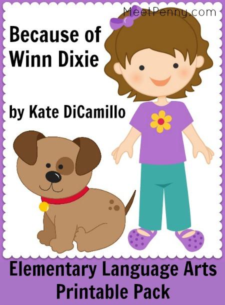 Because of Winn Dixie Elementary Printables