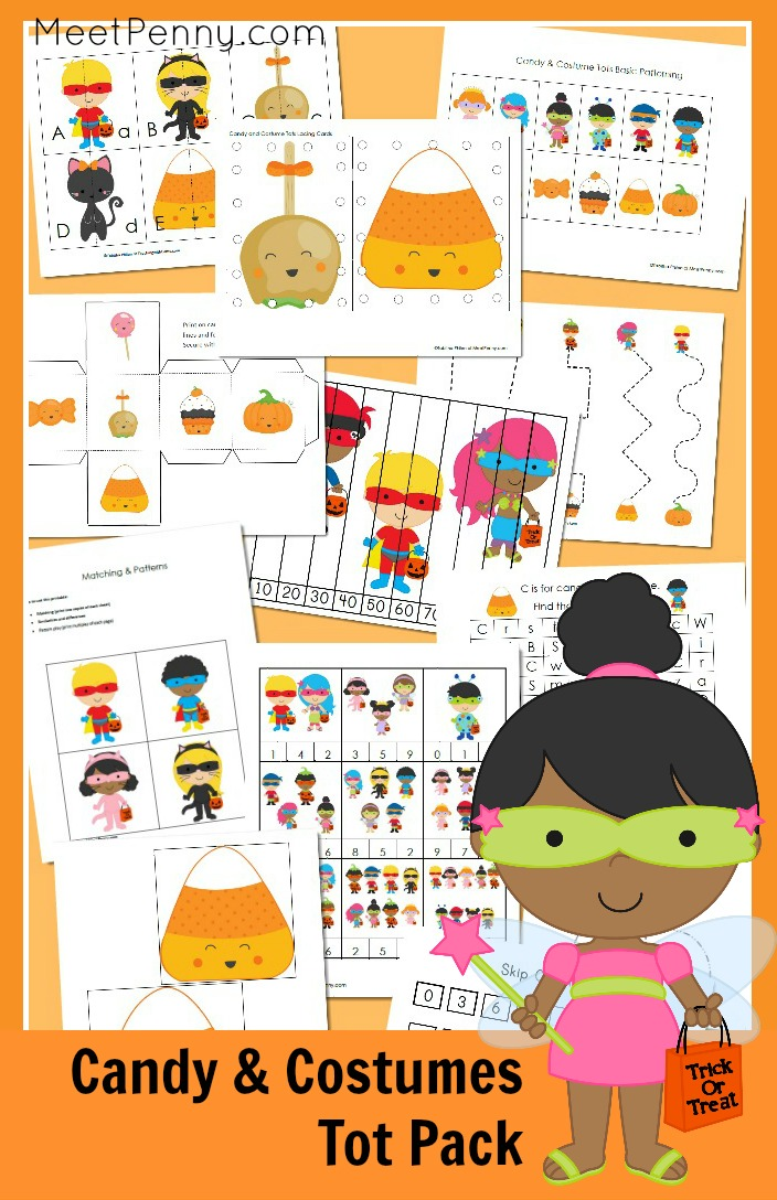 Printable Candy and Costume Tot Pack