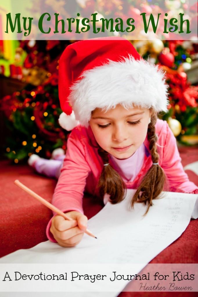 Girl writing a Christmas letter for Santa