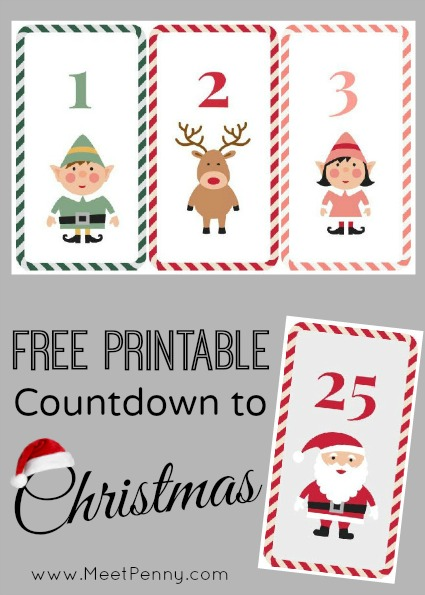 Free printable countdown to christmas meet penny for Countdown chart template