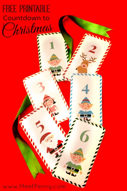 Free Countdown to Christmas you can print to create an activity calendar for December.