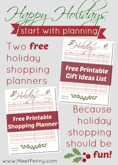 Printable Gifts Planner