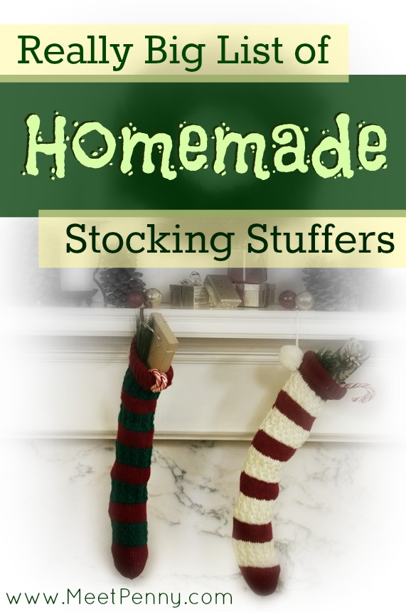 Over 125 (and counting) homemade stocking stuffer ideas. Includes a linky party.