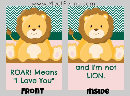 Printable Valentine's Day cards from parent to child. You need to create a free account to download but they are free.
