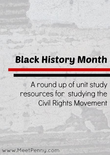 A comprehensive list of resources to help build a civil rights unit study. Most are free.