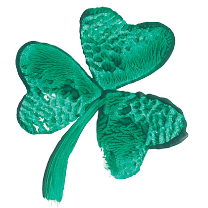 Cookie cutter shamrock from Family Fun