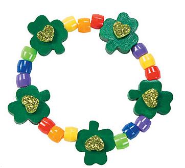 shamrock bracelet from Oriental Trading