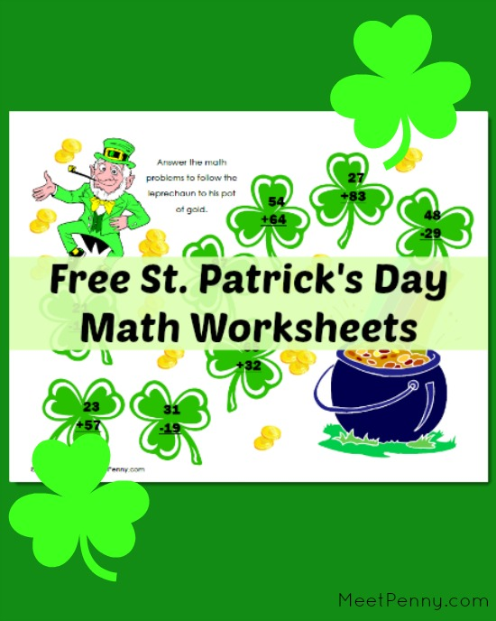 Free St. Patricku0026#39;s Day Math Worksheets - Meet Penny