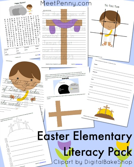 Christian Easter Literacy Pack