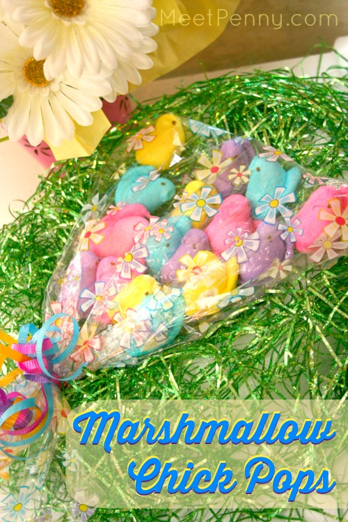 Peeps inspired chick marshmallow pops meet penny cute and easy peeps inspired chick marshmallow pops great idea for stuffing an easter negle Image collections