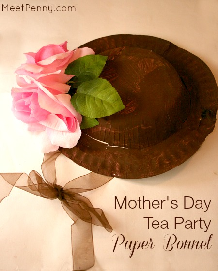 Mother's Day Tea Bonnet Craft for Kids