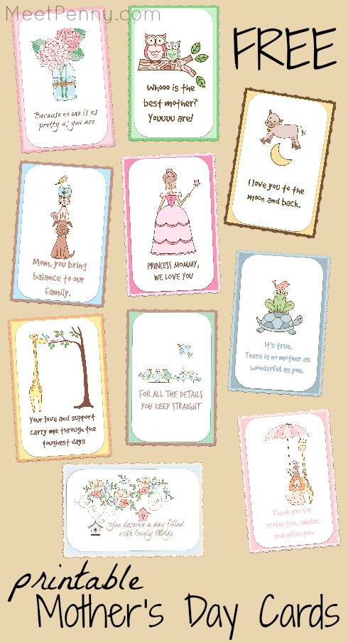Free printable Mother's Day cards you can personalize with a message inside. So pretty!