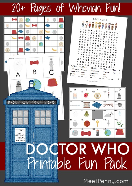 Doctor Who Inspired Printable Fun Pack