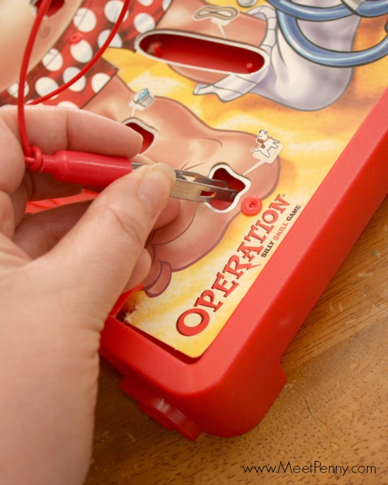 Keep Duracell batteries available for fun family games like Operation.