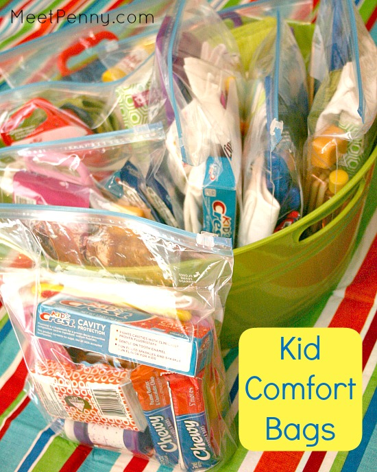 Creating Comfort Bags for Kids in Need
