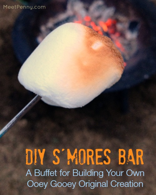 diy s'mores party buffet - great idea for outdoor summer parties!