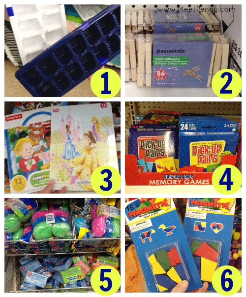 Details almost everything you can buy from a dollar store and use for preschool homeschool. GREAT ideas!