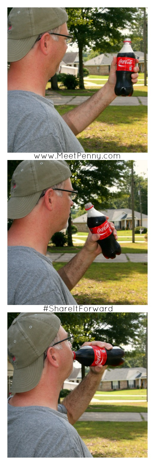 On a hot day, ice down some Coca Colas and pull a wagon around the neighborhood, giving sodas to those working in the yard. Great service idea! #payitforward #shareitforward #shop