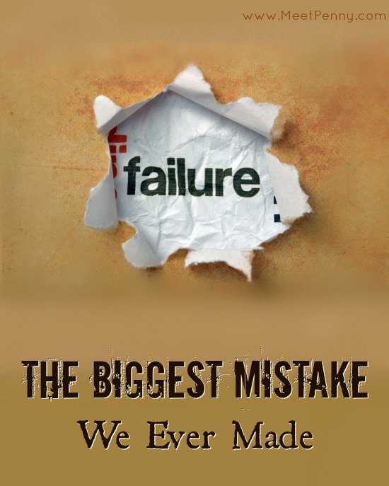 The Biggest Mistake of Our Lives {Also Known As Bankruptcy}