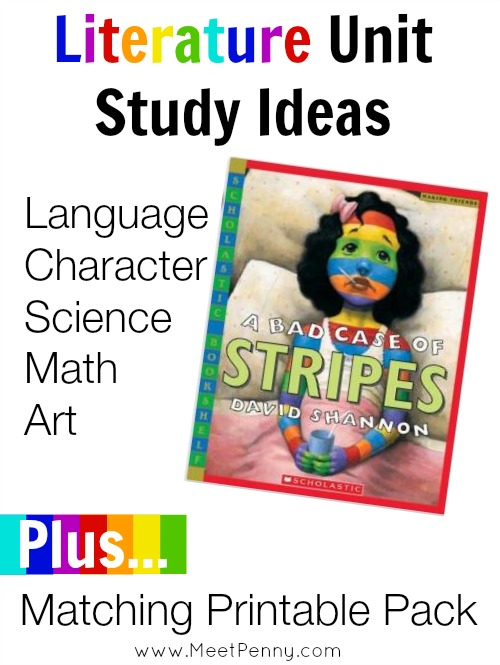 Great ideas for A Bad Case of Stripes unit study.